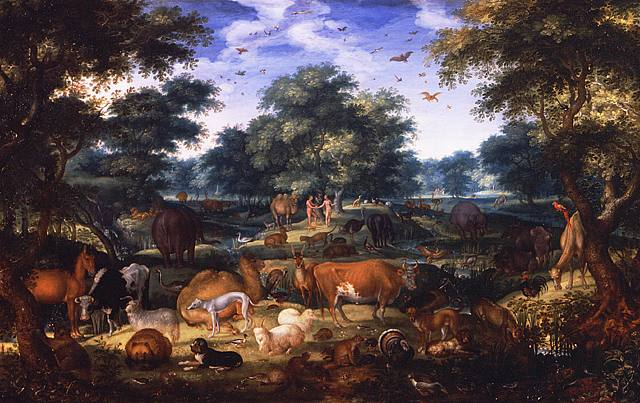 Jacob Savery the Elder   Garden of Eden   1601 The Biblical Meaning of Man's Dominion over the Animals