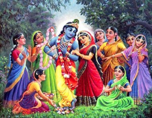 Krishna with wives